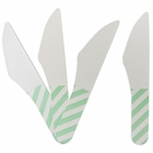Biodegradable Paper Cutlery Utensil Striped Mint Knife 12pcs