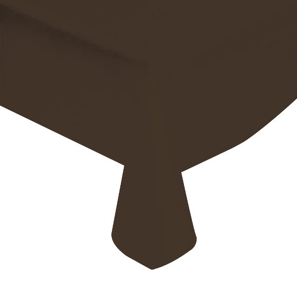 "Black Solid Plastic Tablecloth 54"" X 108"""
