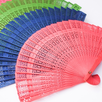 Blueberry 8inch Sandalwood Hand Fan