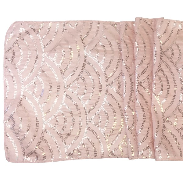 Blush Mermaid Scale Sequin Table Runner