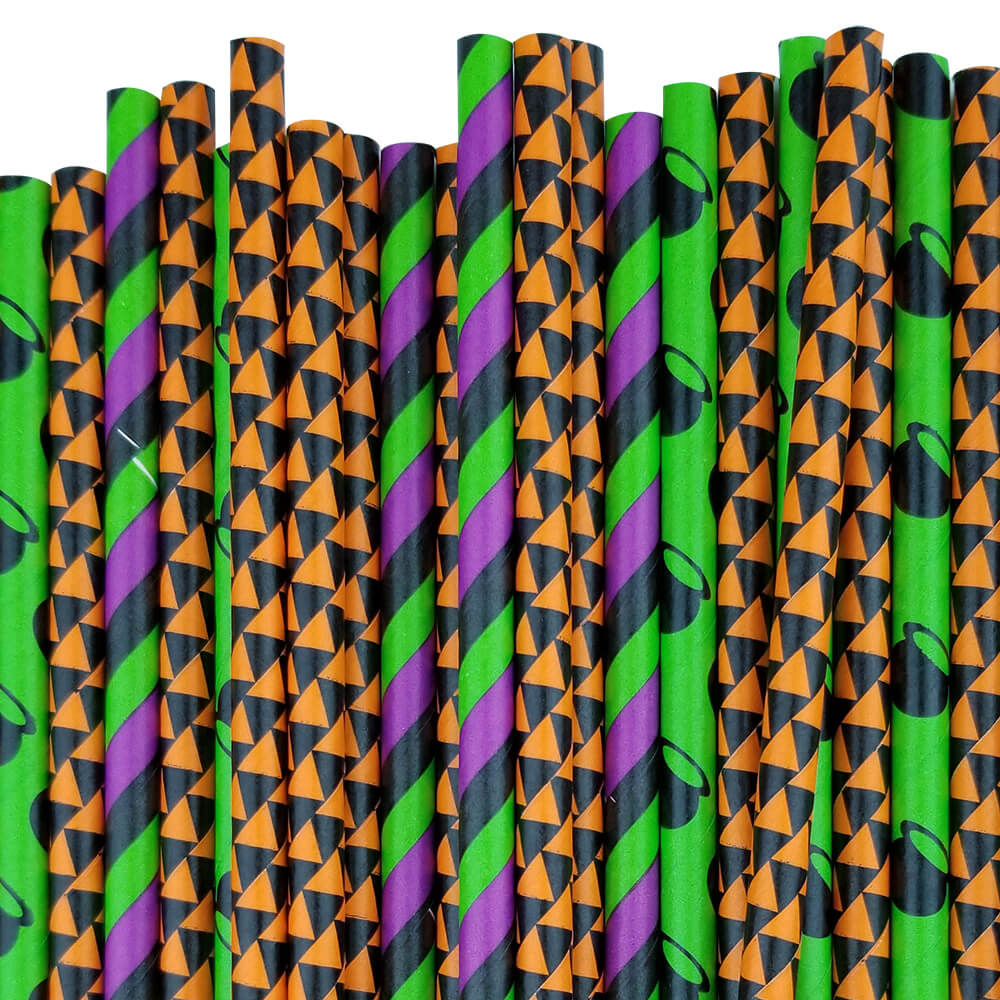 BOO-tiful and Spooky Paper straw Decorating Kit