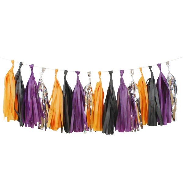 BOO-tiful Tassel Garland Decorating Kit