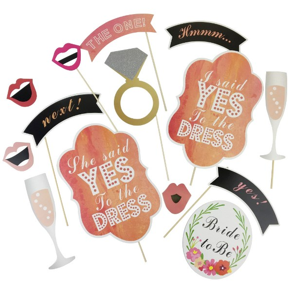 bridal shower photo booth props 14pcs