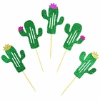 Cake Topper Kit Glitter Green Cactus 50pcs