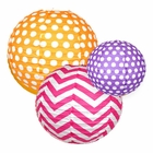 Chevron and Polka Dot Paper Lanterns