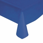 "Cobalt Blue Solid Plastic Tablecloth 54"" X 108"""