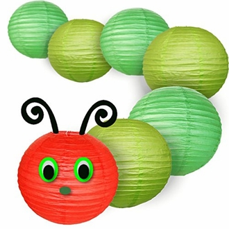 Decorative 8inch Classroom Caterpillar Paper Lantern Kit - Face is NOT included - Premier