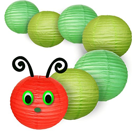 Decorative 8inch Classroom Caterpillar Paper Lantern Kit - Face is NOT included