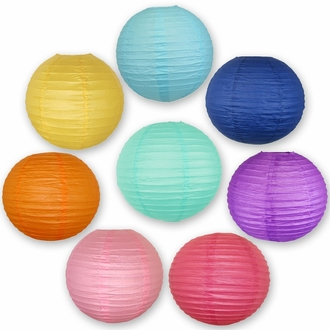 Decorative Tropical Themed Paper Lantern 8pcs Kit (6-inch, Tropical Themed)