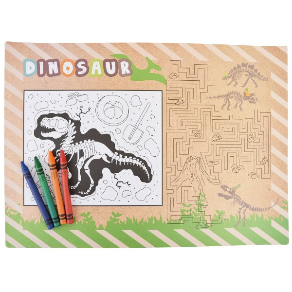 Dinosaur Party Activity Placemats 6pcs