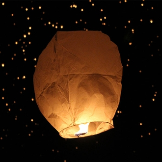 Eclipse White Sky Lantern