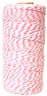 ECO Bakers Twine 110yd 12Ply Striped Bubblegum Pink