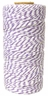 ECO Bakers Twine 110yd 12Ply Striped Lavender