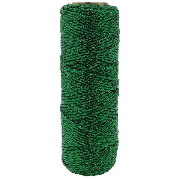 ECO Bakers Twine 55YD 11Ply Solid Metallic Kelly Green