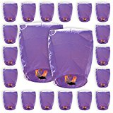 ECO Wire-Free Flying Chinese Sky Lanterns (Set of 20, Eclipse, Purple) - Premier