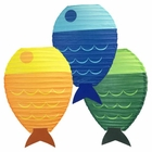 Fish Shaped 12inch Paper Lantern Set 3pcs