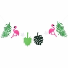 Flamingo and Palm Frond Felt Garland Kit with LED Lights