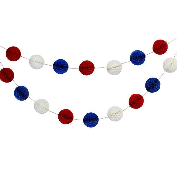 Freedom Mini Honeycomb Ball Garland Decorating Kit