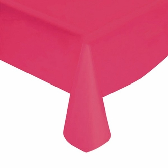 "Fuchsia Solid Plastic Tablecloth 54"" X 108"""