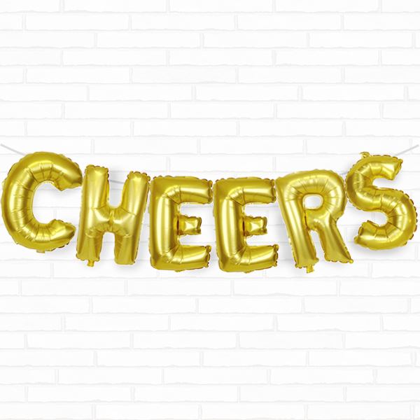"Gold Cheers 16"" Foil Balloon Decorating Kit"
