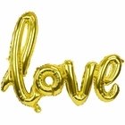 Gold Love Script Foil Balloon 30in