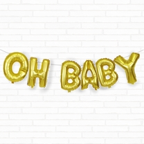 "Gold Oh Baby 16"" Foil Balloon Decorating Kit"
