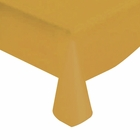 "Gold Solid Plastic Tablecloth 54"" X 108"""
