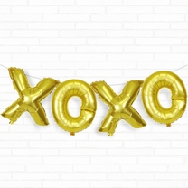 "Gold XOXO 16"" Foil Balloon Decorating Kit"