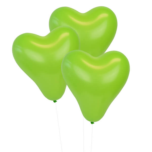 Green Apple 12 inch Heart Latex Balloon 100pcs