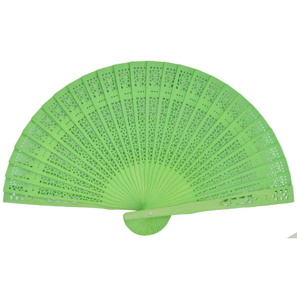 Green Apple 8inch Sandalwood Hand Fan