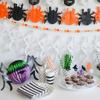 Halloween Accordion Hanging Décor Assortment 3pcs