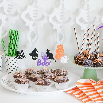 CLEARANCE Halloween Cake Topper Kit Assortment 6pcs