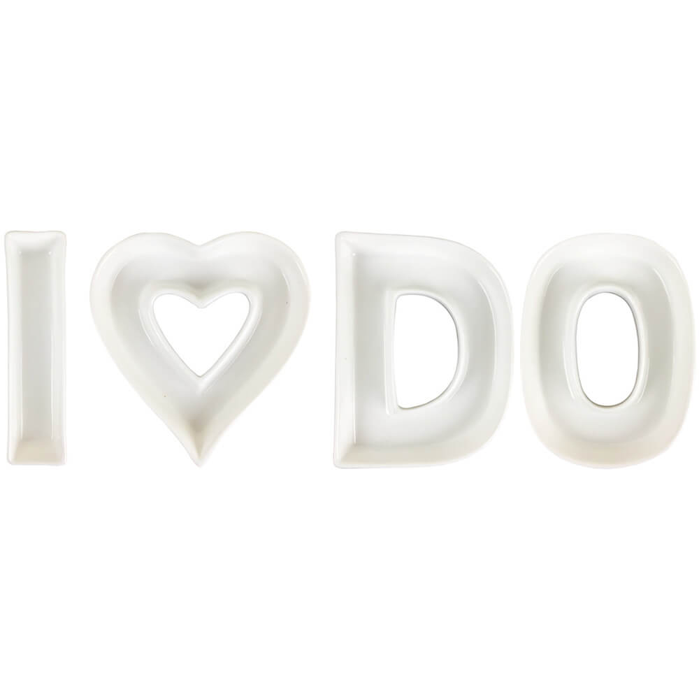 I DO Ceramic Letter Dish Decorating Kit