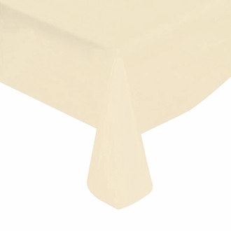 "Ivory Solid Plastic Tablecloth 54"" X 108"""