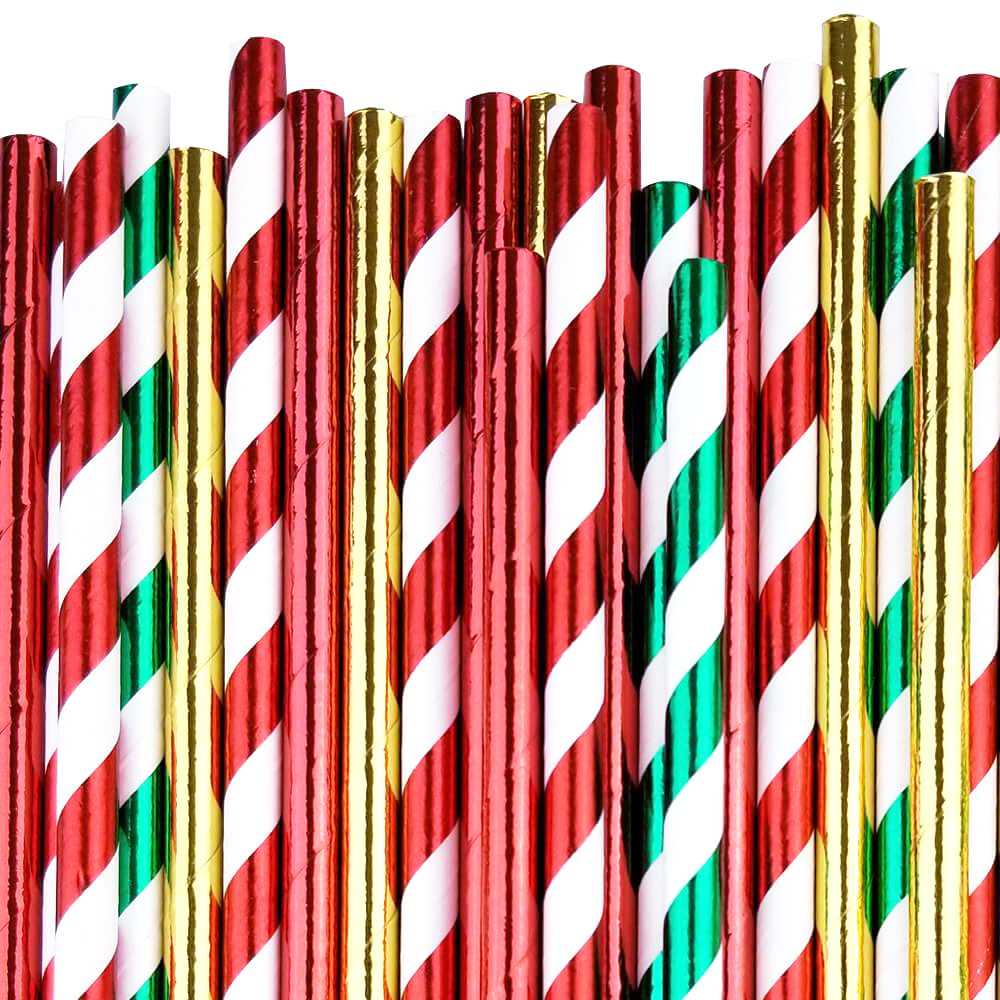 Jingle Bells Paper Straw Decorating Kit