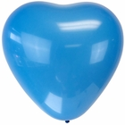 "Jumbo 24"" Blue Heart Latex Balloon"