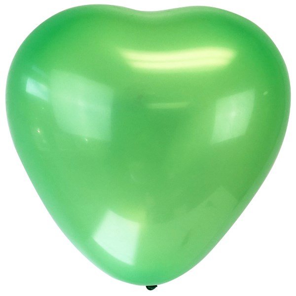 "Jumbo 24"" Green Heart Latex Balloon"