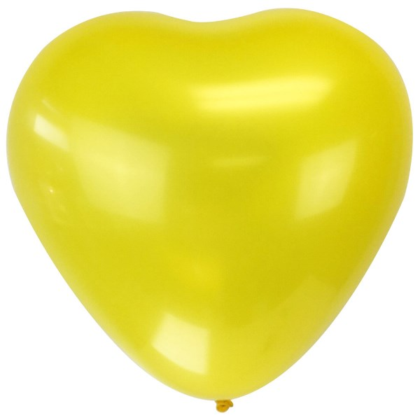 "Jumbo 24"" Yellow Heart Latex Balloon"
