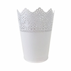 Lace Detail Metal Bucket 5in White