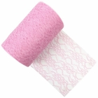 Lace Fabric Roll 6in Baby Pink