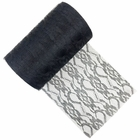 Lace Fabric Roll 6in Black