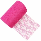 Lace Fabric Roll 6in Fuchsia