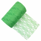 Lace Fabric Roll 6in Green