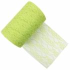 Lace Fabric Roll 6in Lime
