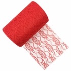 Lace Fabric Roll 6in Red