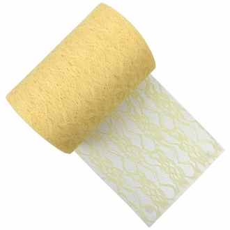 Lace Fabric Roll 6in Sunflower Yellow