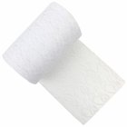 Lace Fabric Roll 6in White