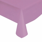 "Lavender Solid Plastic Tablecloth 54"" X 108"""