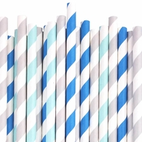 Little Boy Blue Paper straw Decorating Kit