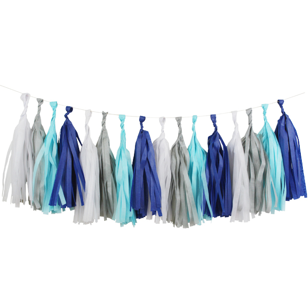 Little Boy Blue Tassel Garland Decorating Kit